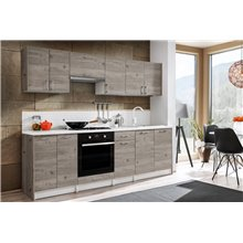 Cocina 240cm color roble Bona Tarraco