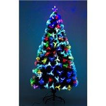 Árbol de Navidad mediano con fibra óptica 150cm...