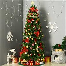 Árbol de Navidad estrecho 210cm Homcom