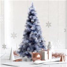 Árbol de Navidad gris metálico 150cm Homcom
