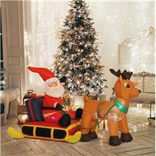 Papá Noel hinchable con iluminación...