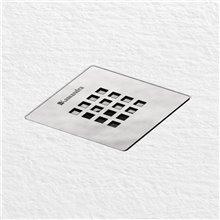 Plato semicircular blanco 90x90 Fontana Kassandra