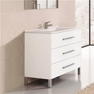 Mueble con lavabo Blanco brillo Ribera 100 TEGLER