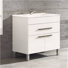 Mueble con lavabo Blanco brillo 80 Bahía TEGLER