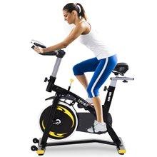 Bicicleta estática de spinning con pantalla LCD...