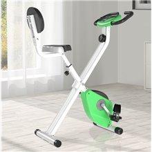 Bicicleta estática de color verde Homcom