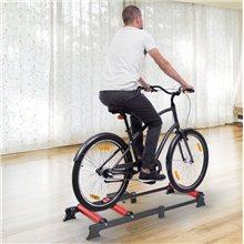 Rodillo de ciclismo para bicicleta rojo Homcom