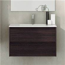 Mueble con lavabo de fondo reducido 80 Roble Sinatra Ibiza TEGLER