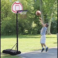 Canasta de baloncesto regulable con ruedas Homcom