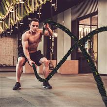 Cuerda de batalla para fitness y crossfit 9m...