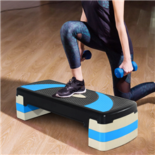 Tabla de step antideslizante para fitness azul...