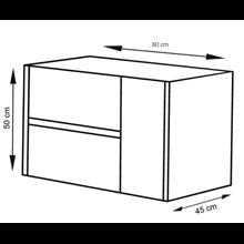 Mueble con lavabo 80 Blanco brillo Ítaca TEGLER