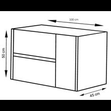 Mueble con lavabo 100 Blanco brillo Ítaca TEGLER