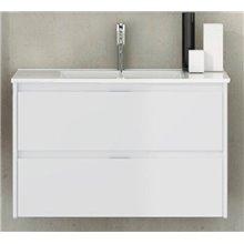 Mueble con lavabo de fondo reducido 50 Blanco brillo Ibiza TEGLER