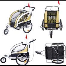 Remolque para niños de bicicleta de 2 plazas...