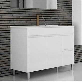 Mueble con lavabo 70 Blanco brillo Ísquia TEGLER