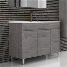Mueble con lavabo 100 Roble Smoky Ísquia TEGLER