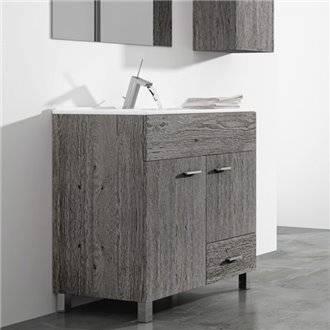 Mueble con lavabo 80 Roble Smoky Samos TEGLER