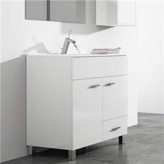 Mueble con lavabo 80 Blanco brillo Samos TEGLER