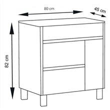 Mueble con lavabo 80 Blanco brillo Caprera TEGLER