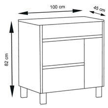 Mueble con lavabo 100 Blanco brillo Caprera TEGLER