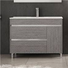 Mueble con lavabo 100 Roble Smoky Caprera TEGLER