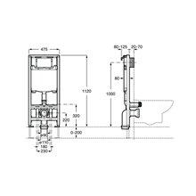 Soporte con cisterna compacta Duplo WC One Roca