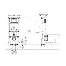 Soporte con cisterna Duplo WC Compact One Roca