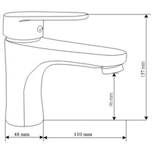 Grifo para lavabo cromo Blossom TCOEX
