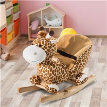 Caballo balancín de girafa para bebé Homcom