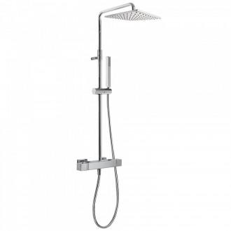 Conjunto de ducha termostática ECO CUADRO Tres barra deslizante