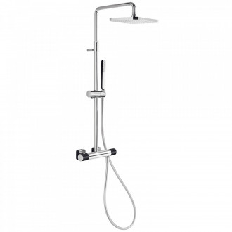 Columna de ducha termostática Cr/Ne TRES LOFT