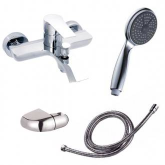 Grifo de bañera con kit de ducha Agora