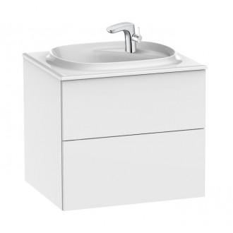 Pack mueble Unik Beyond con Lavabo 60cm Blanco Brillo Fineceramic Roca