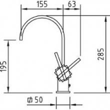 Grifo alto para lavabo Saona Infinity