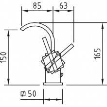 Grifo curvo para lavabo Saona Infinity