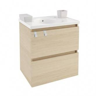 Mueble con lavabo porcelana 60cm Roble nature B-Box BATH+