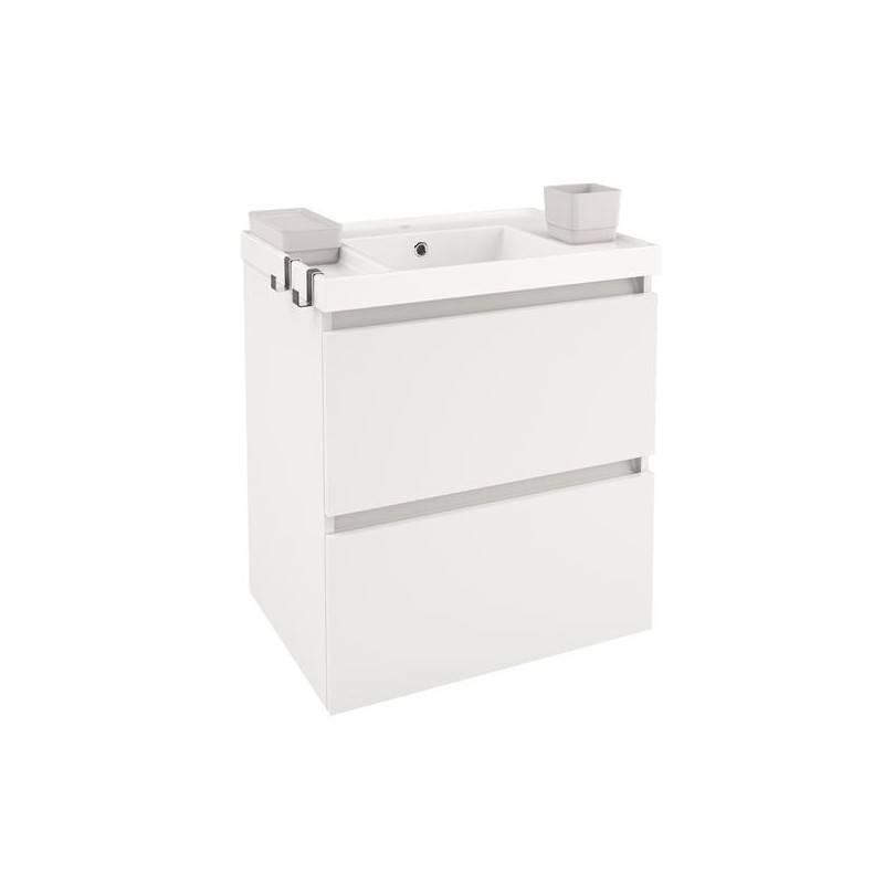 Mueble b resina 60cm blanco mate o brillo materiales de - Mueble de resina para exterior ...