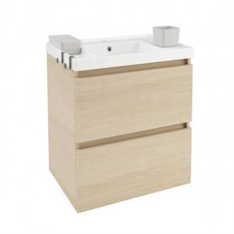 Mueble con lavabo resina 60cm Roble nature B-Box BATH+