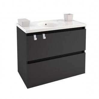 Mueble con lavabo porcelana 80cm Antracita B-Box BATH+