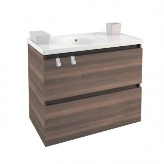 Mueble con lavabo porcelana 80cm Fresno B-Box BATH+