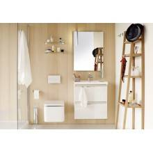 Mueble con lavabo resina 80cm Blanco B-Box BATH+