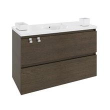 Mueble con lavabo porcelana 100cm Roble chocolate B-Box BATH+