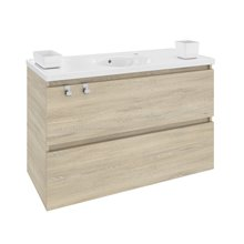 Mueble con lavabo porcelana 100cm Roble nature B-Box BATH+