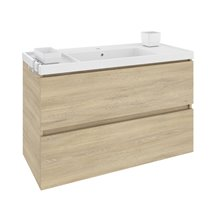 Mueble con lavabo resina 100cm Roble nature B-Box BATH+