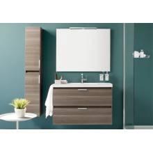 Mueble con lavabo resina 100cm Fresno B-Box BATH+