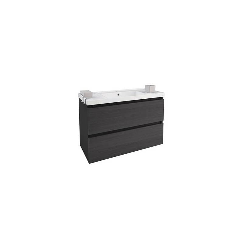 Mueble b resina 100cm antracita pizarra materiales de - Mueble de resina para exterior ...