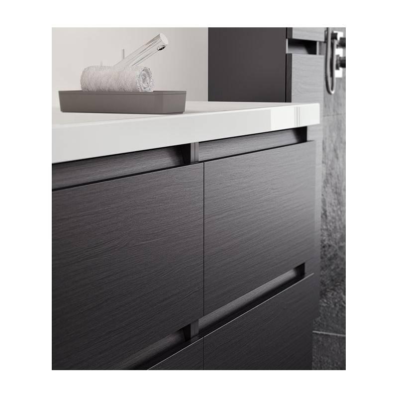 Mueble b resina 120cm blanco mate o brillo b05031201157 materiales de f brica - Muebles de bano blanco mate ...