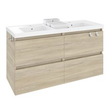 Mueble con lavabo resina 2 senos 120cm Roble nature B-Box BATH+