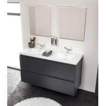 Mueble con lavabo resina 2 senos 120cm Roble...